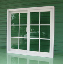 Guangdong uPVC window manufacturer,sliding glass uPVC window,double glazed window with plastic grids