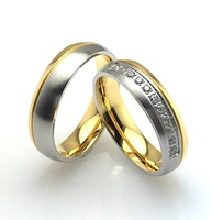 Fashion custom made silver and gold color stainless steel rings with magnet heatlth jewelry