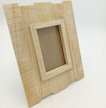 Wooden standing photo frame