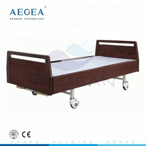 Full wood frame 2 cranks mechanical elderly healthcare recovery cheap hospital ward bed