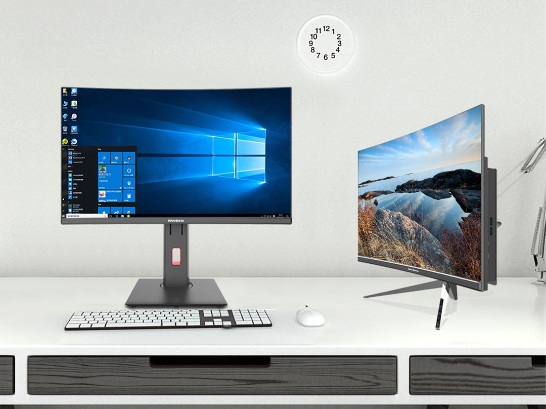 2019 new game pc all in one 24 inch 3000R curved FHD screen with Intel Core CPU GTX discrete graphics aio desktop gaming station