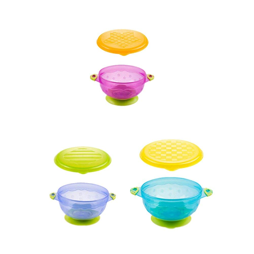 "Baby Sucker Bowl Baby Suction Feeding Bowls Set of 3 (s:4.3""2.3"";m:4.8""2.5"";l:5.5""2.7"")"