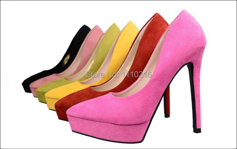 6c2635cdb00a16 2015 hot sale fashion platform womens pointed toe high heels PU suede bride  wedding shoes ladies sexy pumps party single shoes