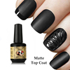 15 ml Clean-free Matte Gel Polish No wipe Transparent Color Gel Top Coat Matte Nail Art Gel Polish