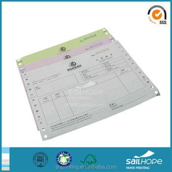 custom invoice printing sample invoice ncr carbonless invoice book