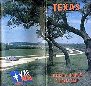 1986 TEXAS Official Highway Travel Map Mark White Governor Code 2831
