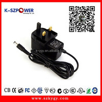 2015 k-09 14w series ygy power UK plug ac adapter 5.5v 2a power adapter