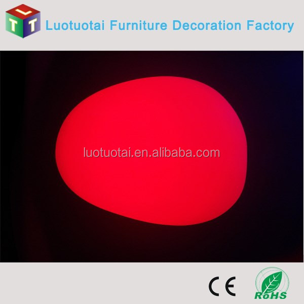 Glowing decorative light LED Lighting Stone with color changing