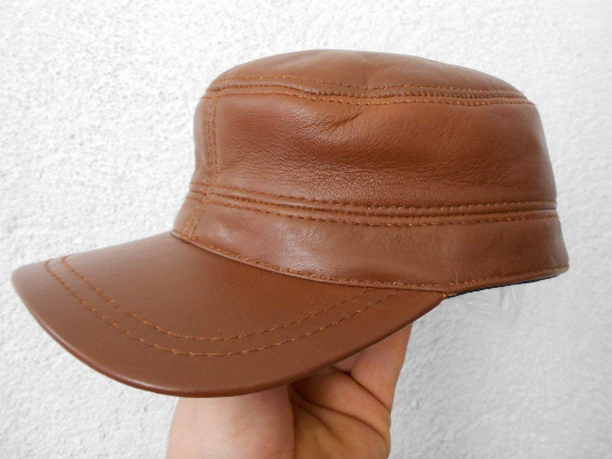 4ec0a5132a5 leahter army cap Handmade genuine high quality unisex leather army hat cap  custom made