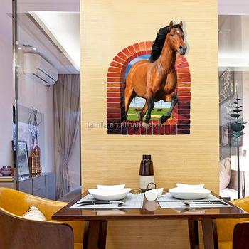 Horse Wall Murals custom vinyl wall decals 3d window horse wall stickers adhesivos