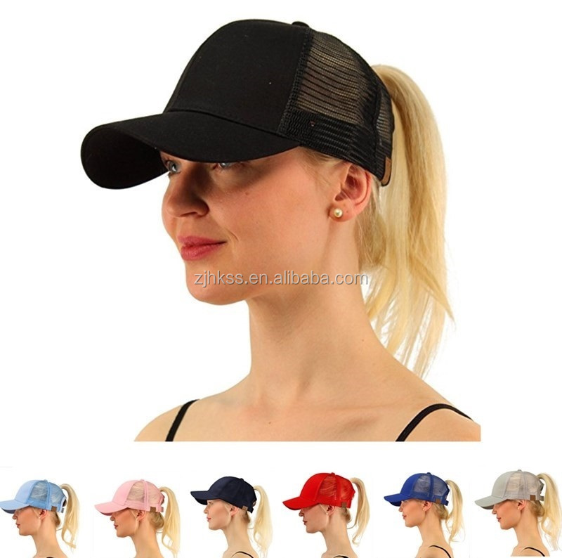 2018 New Ponytail Baseball Caps Hot Sell Women Ponytail Caps Cap Fashion Girl Basketball <strong>Hats</strong> Back Hole Pony Tail X085