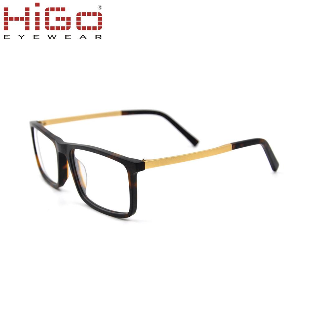 44c0f7114927 Higo Latest Fashion eyeglasses frames High Quality Aluminum temple Acetate  glasses frame wholesale made in China