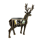 CNC wooden deer craft study room book shelf home decor
