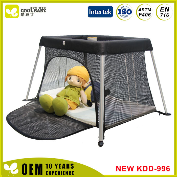 Foldable Baby Playpen Light Weight Portable Baby Travel Crib Cot Manufacturer Hot Sales