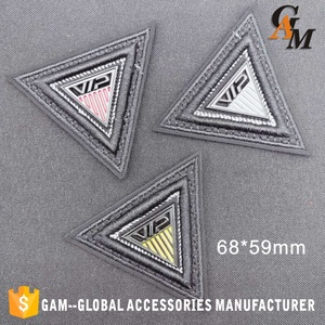 PU Leather  label  for garment handbag shoes IN STOCK AVAILABLE  2019 New Design  Fashion Particular with metal embroidery