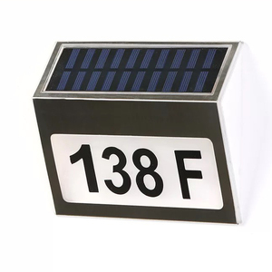 Solar light illuminated address led lighted house numbers house number signs outdoor lit solar address lights outdoor