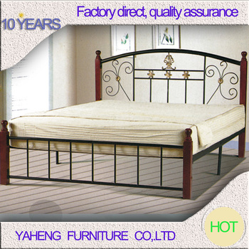 Bedroom Furniture Modern Metal Bed Frame Wrought Iron Twin Bed