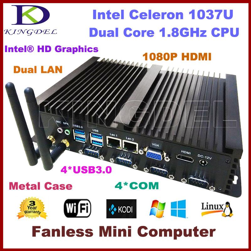 4GB RAM 500GB HDD Nettop HTPC Industrial Computer Intel Celeron 1037U Dual Core CPU 2 1000M