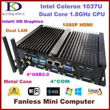 4GB RAM 640GB HDD Nettop HTPC computer Intel Celeron 1037U Dual core CPU, 2*1000M LAN, 4*COM, 2*USB 3.0, 300M WiFi,HDMI