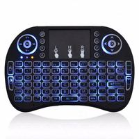 2.4G wireless mini flying mouse keyboard i8 mini touch smart keyboard colorful backlit marquee multi-language keywords