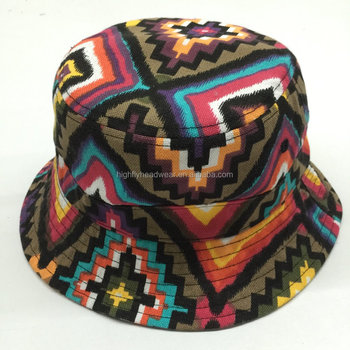 All Over Printed Aztec Pattern Bucket Hat Fisherman Hat Hunting Hat - Buy  Outdoor Hunting Hats 86ecd7d8115