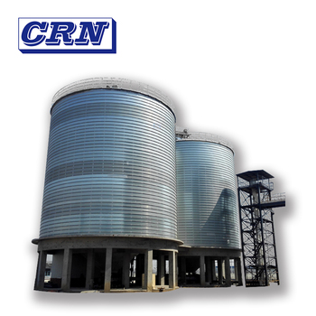 CRN corrugated plate steel grain silo for sale for product storage with nice price