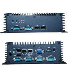 Dual Lans DC 12V Power Supply Industrial Computer and Fanless ATOM N2600 Dual core 1.6G Mini PC with 6COM (N2800 1.86G Option)