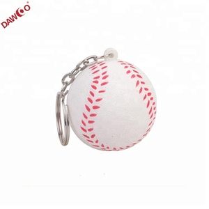 sportsball Basketball football baseball rugby stress ball keychain