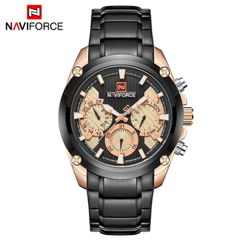 49f9c2f69 Top Luxury Brand NAVIFORCE 9113 Watch Men Fashion Sport Quartz Mens Watches  Full Steel Waterproof Watches