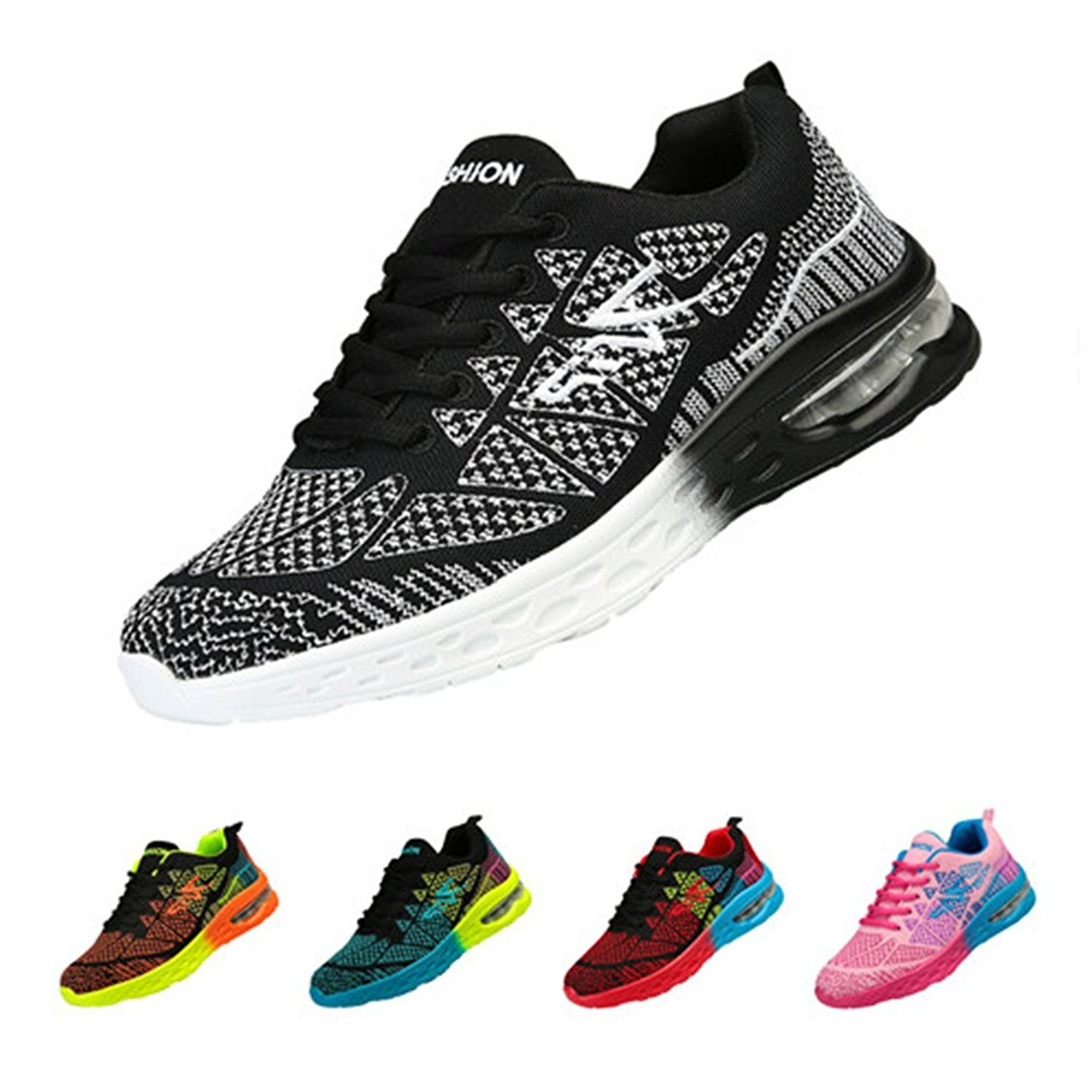ZIITOP Men and Women Athletic Shoes Running Sneakers Athletic Sneakers Sport Air Fitness Workout Gym Jogging Walking Shoes
