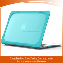 Wholesale customized 13 inch Hard PC + Soft TPU laptop case, laptop hard case for MacBook