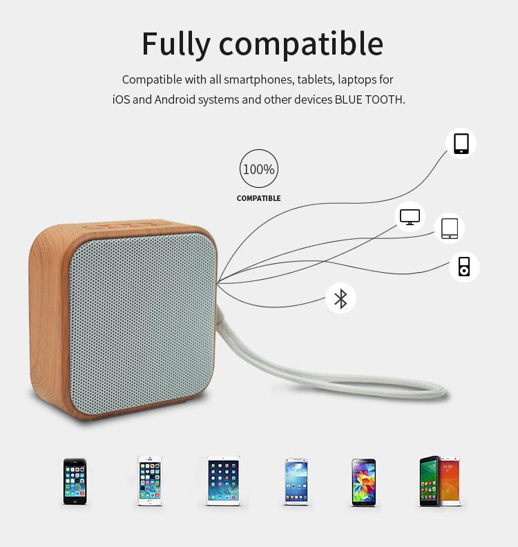 Altoparlante Bluetooth 2019 Portatile Del Telefono Mobile Mini Intelligente Legno Altoparlante Senza Fili A70