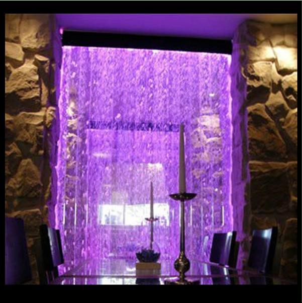 D coration de la maison mur de bulle d 39 eau led parois des cloisons - Tube a bulle lumineux ...