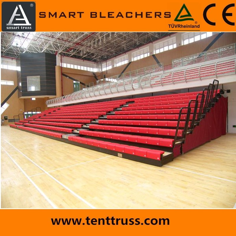 10 rows manual telescopic bleacher chairs stadium seats plastic seats for stadium
