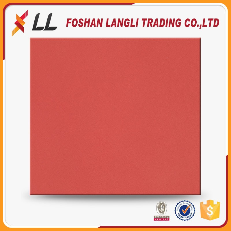 China new products elegant red bright colored porcelain floor tile