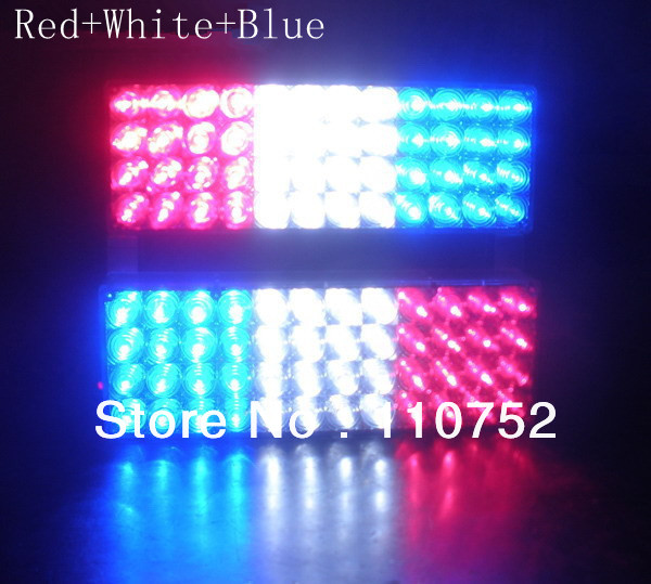 High power 96 LED Car strobe Led warning light, Flashing ...