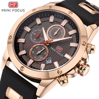 MINI FOCUS Top Brand Luxury Chronograph Quartz Watch Men Sports Watches Military Wrist Watches Men Brand