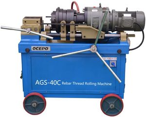 Electric Pipe and Steel Rod Threading Machine for Construction Splicing