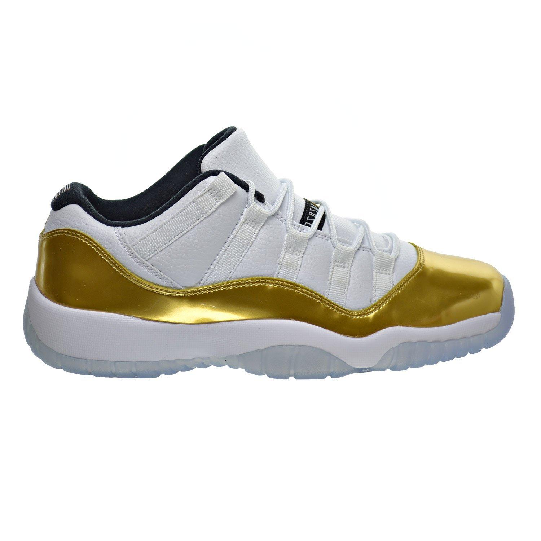 reputable site 4ab71 b7cae Get Quotations · Air Jordan 11 Retro Low BG Big Kid s Shoes White Metallic  Gold Black 528896