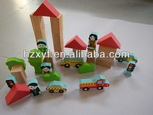 EVA wood grain blocks and farm scenery eva figurines for kids