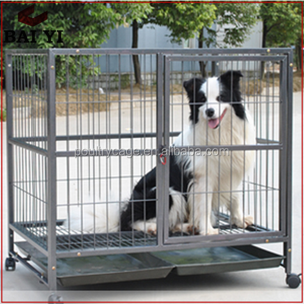 2016 Hot Sale Modular Stainless Steel Dog Cage With Wheels