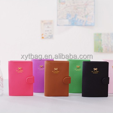 Bowknot Logo Passport Holder/Stocked PU Leather Passprt Case