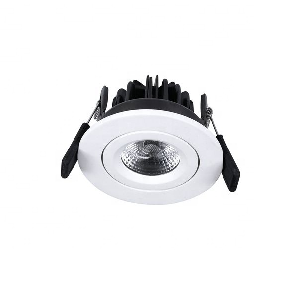 8 w Fire Ratedadjustable Dimbare Behuizing Zwart Led Verzonken Cob Up LED Down Licht