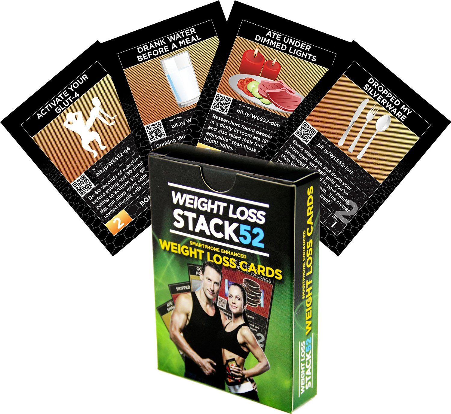 Weight Loss Playing Card Game by Stack 52. Build Habits That Are Scientifically Proven to Promote Fat Loss. Lose Weight by Beating Your Previous Score Each Week. Not a Diet. No Calorie Counting