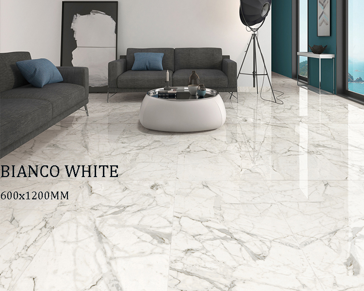 China Suppliers White Calacatta Sparkling Polished Porcelain Floor