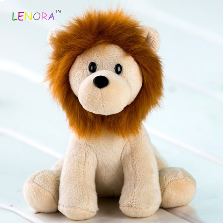 Promotion Wholesale OEM Custom Comforter Cute  Baby Mini  Lion Animal Plush Toy Kids Birthday Gifts Animal Stuffed Toy