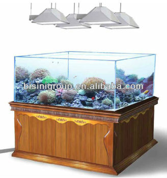 Bisini Luxury Large Four-sided Wooden Aquarium / Fish Tank Cabinet ...