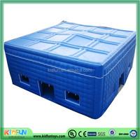 Blue cube inflatable tent
