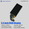 5.5inch oled touch screen display with FHD on-cell cap touch for smart phone