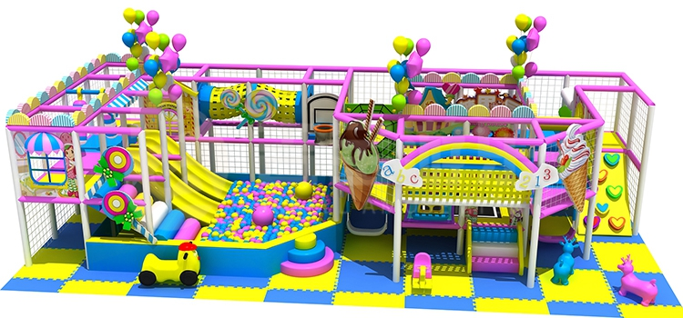 Best selling children candy theme interior soft play sets playground equipment